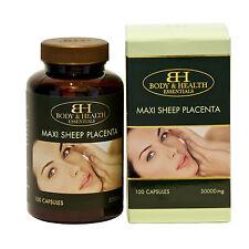 Body & Health Maxi Sheep Placenta 30,000mg 100 Capsules