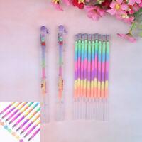 2/10X Multi Color Rainbow Refill Highlighter Gel Ink Pen Refill School Suppli DD