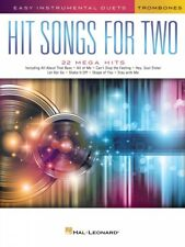 Hit Songs for Two Trombones Easy Instrumental Duets Book New 000252486