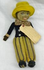 "Antique Norah Wellings English ""Sambo"" Doll Hand Painted Americana circa 1908"