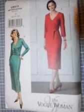 Vogue sewing pattern 8111 wrap front sheath dress 12-16 vogue Woman