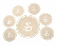 7-piece Cream Coffee Coaster Set, Placemat Tablemat Dinner Drink Party Tea Home