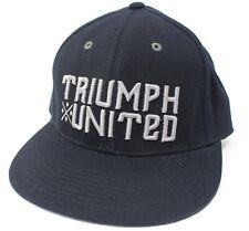 Triumph United black L/XL Stretch Fit Baseball Hat Cap HTF Vary Rare