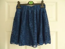 Girl's Navy Blue Lace Party Skirt from Tammy Age 11 Years (Height 140-146cms)