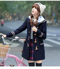 Hoshikoto Japanese School Uniform Style Hooded Woolen Coat