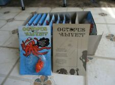 1982 Vintage Wacky Wall Walker Red Octopus sealed NOS Octopus Alive Moc one toy