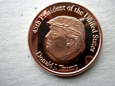 """Donald J. Trump 45th President"" 1 oz Copper Round"