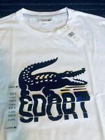 NWT ~ LACOSTE SPORT Men's Big Crocodile White T-Shirt - Size 6 (XL)