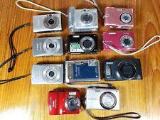 Lot 11 Point Shoot Digital Cameras Nikon Olympus Canon Fuji Kodak UNTESTED AS IS