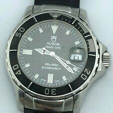 TUDOR HYDRONAUT PRINCE DATE AUTOMATIC DIVER WATCH REF 89190P 40 MM CASE CARBON