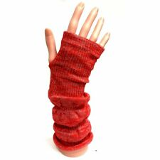 Long Fingerless Gloves with Silver Sparkle - Christmas - Fashion - Evening