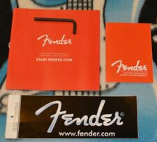 FENDER Welcome Manual, +Truss Wrench 3/16 - Fender P/N 0038467000 New CASE CANDY