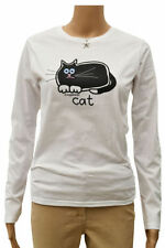 Cats Animal Print Long Sleeve Tops & Shirts for Women