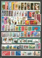 DDR   1977 postfrisch  komplett   mit allen Einzelmarken + Schwarzdr.