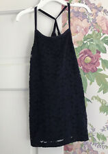 abercrombie Kids Size 11/12 Navy Lace Front Tank Top