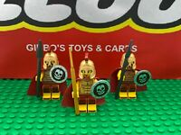 LEGO 3 SPARTAN WARRIOR minifigures + weapons & capes series 2 soldiers bundle