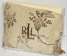 Ralph Lauren PLAGE D'OR CHAMPAGNE FLORAL King Bedskirt NEW 1ST QUALITY