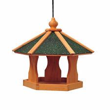 PawHut  Mangeoire suspendue nichoir à oiseau pour extérieur en bois 40 x 40 x 35