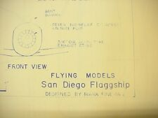 San Diego Flaggship Rubber Powered Model Airplane Plans