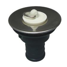 """Straight Sink Waste Outlet 3/4"""" 19MM Stainless Steel + Plug - Caravan  Motorhome"""
