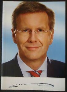 1261 Christian Wulff Politik Autogrammkarte Autograph original signiert