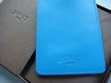 Bovet Blue Leather Luggage Tag