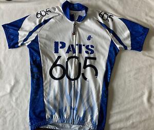Hincapie White Blue Pats 605 Cycle Jersey Size L