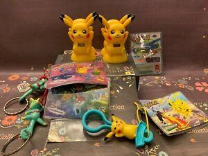 Wendy's Pokemon Pikachu Clocks Kecleon Keychain LOT of Vintage Figures Toys 2002