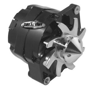 Tuff Stuff Alternator 7140FBULL; GM Silver Bullet 140 amp 1-wire black