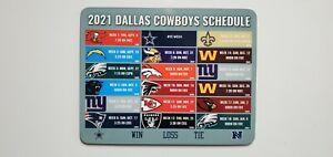 "2021/22 Dallas Cowboys Schedule Fridge Magnet Dry Erase Board Huge 8"" X 10"""