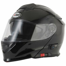 2016 VCAN V271 Blinc 5 Bluetooth Flip Front up Motorcycle Helmet FM Radio Gloss Black M