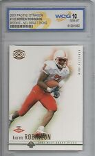 2001 Pacific Dynagon Retail #106 Koren Robinson WCG 10 MT Rookie Football Card