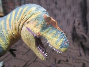 "Battat 1994 Museum Of Science Boston Rare T Rex Figure 4.5"" Tall 10.5' Long"