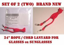 "EYE GLASSES LANYARD SUNGLASSES EYEWEAR ROPE CORD NECKLACE RED NEW 24"" LOT of 2"