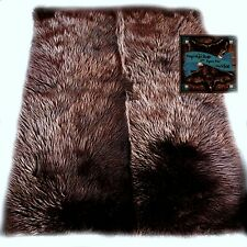 Faux Fur Area Rug Rectangular Shape Grizzly Bear Brown Shag Carpet Throw Sheep