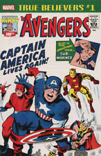 TRUE BELIEVERS KIRBY 100TH CAPTAIN AMERICA LIVES AGAIN #1 MARVEL COMICS
