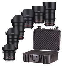 Samyang VDSLR Kit Lentille 5 Package 14mm 24mm 35mm 50mm 85mm & 135mm