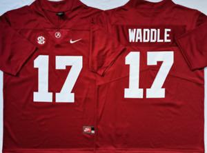 Men's Alabama Crimson Tide Red #17 WADDLE Stiched Custom Jersey