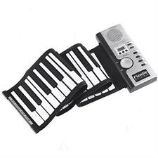 Electronic Piano Synthesizer Keyboards Flexible Batteries Lcd Digital Full Range