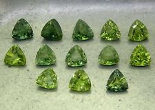Mixed Green Sapphires Trillion 3.78ct natural loose gemstones