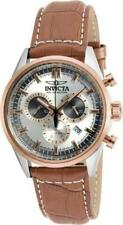 Invicta 18569 I Force Chronograph Tachymeter Date Brown Leather Strap Mens Watch