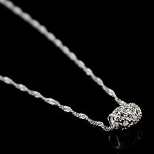 925 Sterling Silver Plated Hollow Cut Out Lucky Charm Bead Pendant Necklace Gift