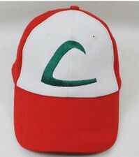 Pokemon Ash Ketchum Cap Embroidered Hat One Size-A