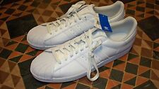 WOW! Men's All White Tennis Shoes Sneakers ADIDAS Superstar II Classic 19 NWOB!