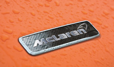 Genuine NEW McLaren 650S 570S Carbon Fiber Hood Emblem Badge Part# 11A9384CP
