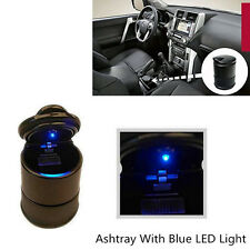 1x Car SUV Accessories Ashtray Blue LED Light Safe Fine Sealing Easy Clean Black