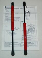 NOS Cobalt SS Pursuit rear trunk struts with rear spoiler 17801819 Victory Red