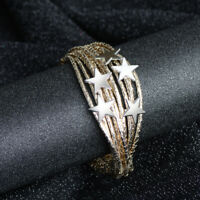 Women Stars Multilayer Bracelet Fashion Magnetic Clasp Bangle Wristband Cuff NEW