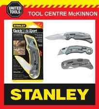 STANLEY 10-813 QUICKSLIDE SPORT 2-IN-1 RETRACTABLE UTILITY POCKET KNIFE