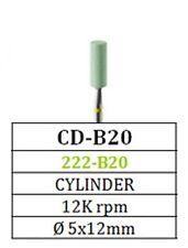 Diamond Green Stone Besqual CD-B20 Cylinder for Zirconia Porcelain (5 Pack)
